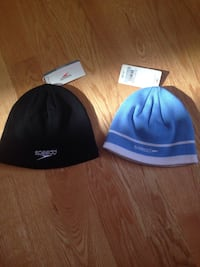Brand New with tags Speedo black and blue beanies