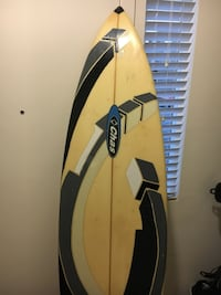 6'3 chas surf board