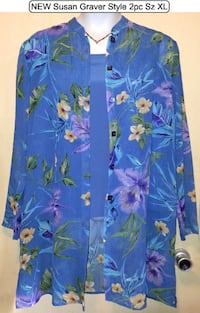 NEW 2pc Tropical Floral Tunic & Tank