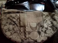 brown and black  canvas and leather couch bag Minneapolis, 55428
