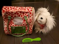 Toy puppy with bag