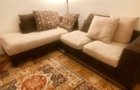 Sectional sofa+side table and 2 coffee tables and 2 Table lamps. Boulder