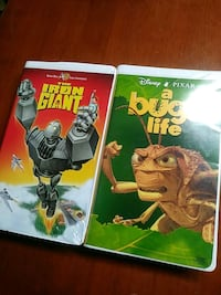 Iron giant and a bugs life vhs