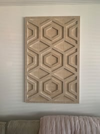 West Elm Wood Wall Art new in box - never opened