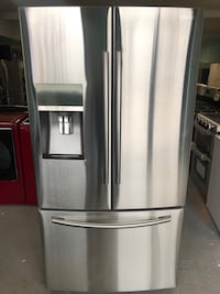 Samsung French door freezer fridge 90 days warranty  Reisterstown, 21136