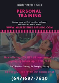 Personal training Mississauga