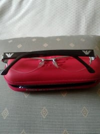 Emporion Armani glasses frame with the red case.