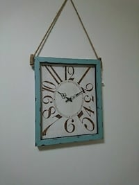 rectangular blue and white wall clock Brampton, L6S 3C6