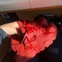 Red Huraches size 10