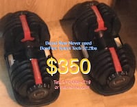 black BowFlex select tech dumbbells