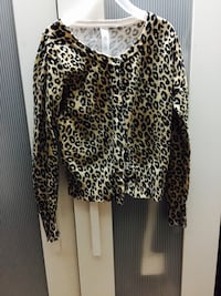 Girls cheetah print sweater