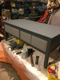 Dark Grey coffee table with 4 drawers, $130 OBO 3158 km
