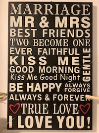 Marriage Wall Decor