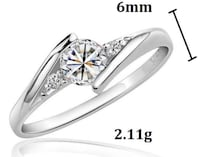 silver ring with crystal Stockton, 95206