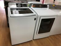 Samsung white washer and dryer set Woodbridge, 22191