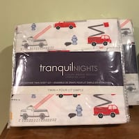 Tranquil Nights microfibre sheets  Twin set 2 packages.  $20 each Vaughan, L6A 2B6