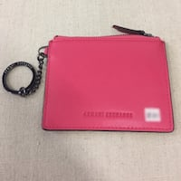 red and black leather wallet Surrey