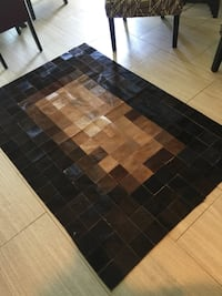 Moving! Must go!!! Beautiful Designer Leather area rug! Paid $575 selling for $175obo Oklahoma City, 73142