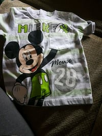 toddler's grey and green Mickey Mouse crew-neck t-shirt Winnipeg, R2V 1L9