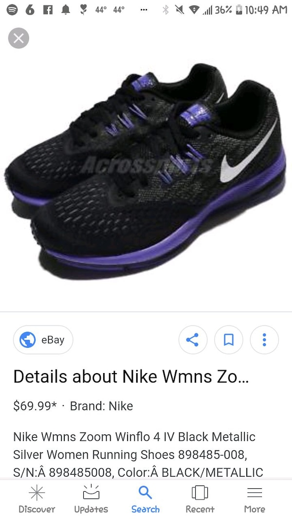 8904fc873086 Used Womans Nike zoom Winflo 4 for sale in Irondale - letgo