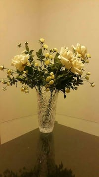 white roses in glass flower vases Alexandria, 22309