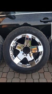 "20"" ROCKSTAR RIMS with tires"