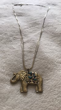 Gold Elephant Necklace East Patchogue, 11772