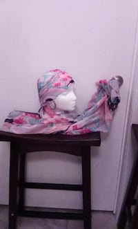 white and pink scarf OAKVILLE