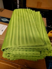 Lime green curtains sets