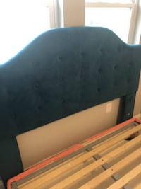 Velvet teal headboard QUEEN size  Washington, 20024