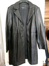 Jones New York XL black leather coat