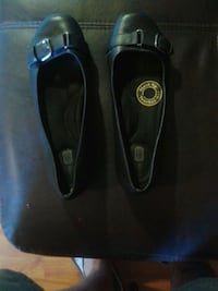 pair of black leather flats Peterborough