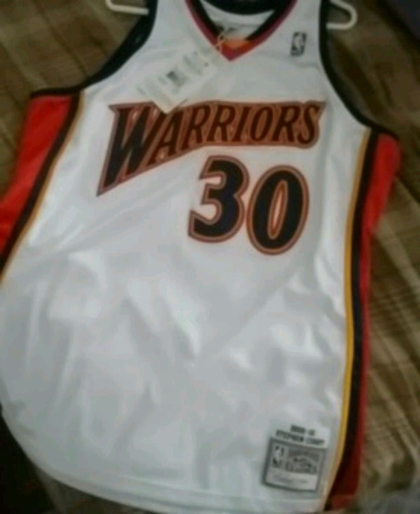 sale retailer a2f6d 4222c Warriors Mitchell and Ness Curry Jersey