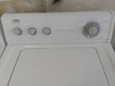 #1490 Whirlpool heavy duty washer and electric dry