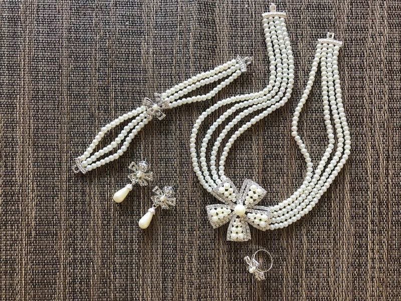 Pearl necklace set 1