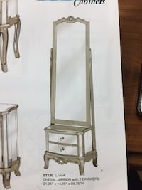 MIRROR / CHEVAL MIRROR With 2 DRAWERS Toronto