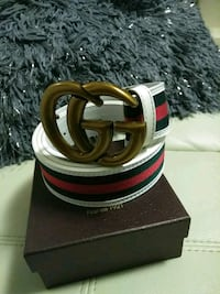 red Gucci leather belt with box Medford, 02155