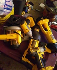 yellow DEWALT power tool lot
