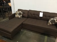 Reversible fabric sectional. Brand new. Colors:Black, Brown and grey.  Farmers Branch, 75234