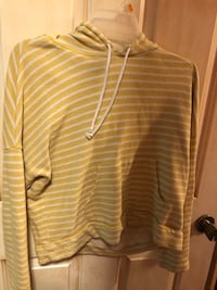 white and gray striped long-sleeved shirt Hewitt, 07421
