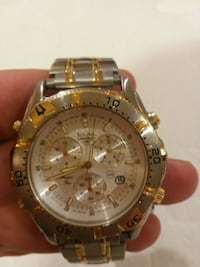 round gold-colored chronograph watch with link bracelet Frederick, 21703