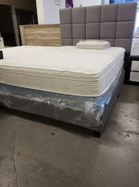 New queen size bed frame with mattress and box Hayward