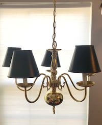 Gold finished dining room chandelier Perry Hall, 21128