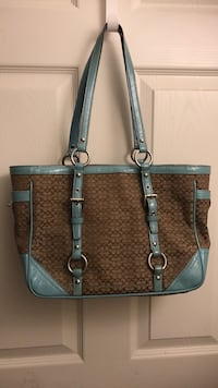 Brown and grey coach monogrammed tote bag Alexandria, 22315