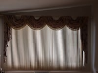 Curtains and rods 2 complete sets very elegant Laval, H7W 3S3