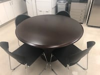 round black wooden table with four chairs Tampa, 33607