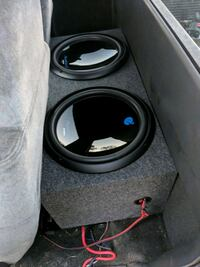 15in subs new with 4000 watt amp