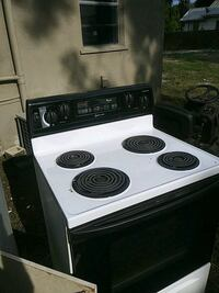 white and black 4-coil electric range oven Gibsonton, 33534