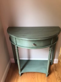 Teal Foyer Table 1 Drawer Herndon, 20171