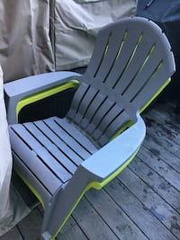 2 Resin patio chairs  Vancouver, V6R 2H6